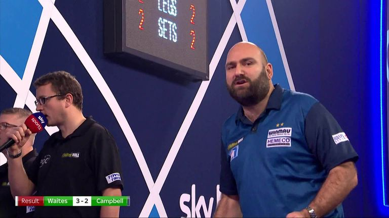 Two-time BDO champion Scott Waites produced a stunning 11-darter to defeat Matt Campbell in the first round of the World Darts Championship.