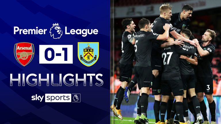 FREE TO WATCH: Highlights from Burnley's win over Arsenal in the Premier League