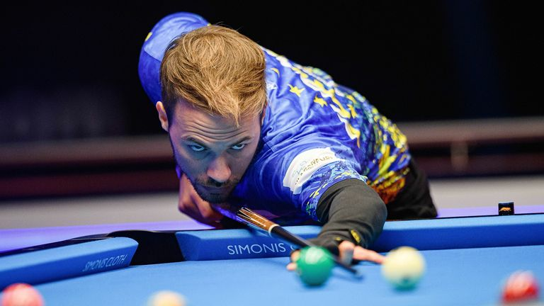 Albin Ouschan was one of the European stars in action on opening night of the Mosconi Cup