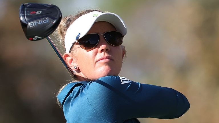 Olson enjoyed her best round in a major