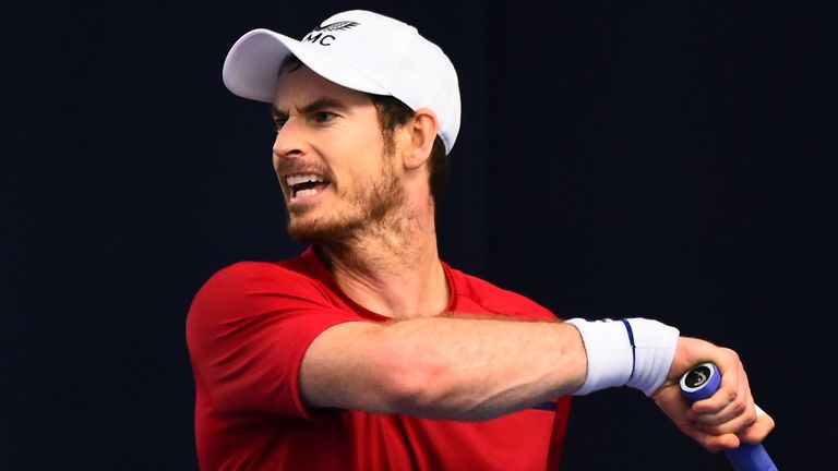 Andy Murray defeated Dan Evans on day one of the Battle of the Brits at the National Tennis Centre