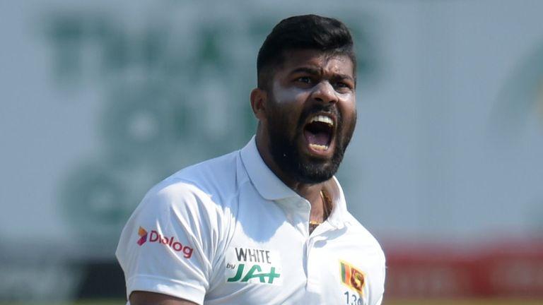 After drinking tea on the second day, Lahirukamara started the Sri Lankan attack with Rassie van der Dussen.