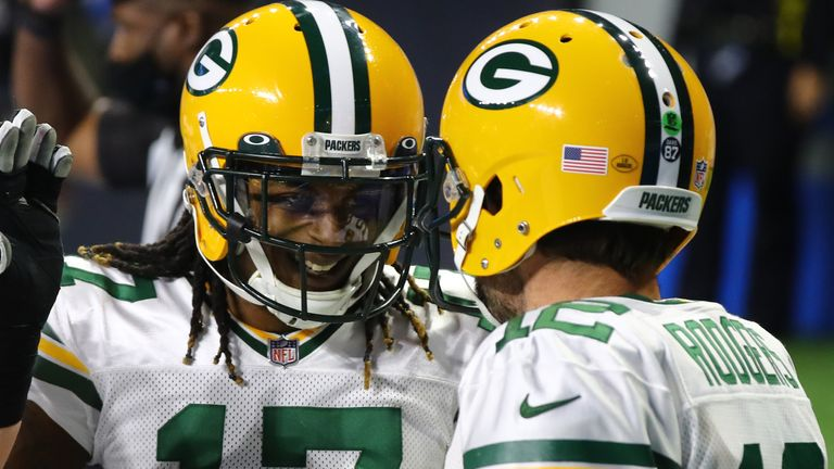 Davante Adams and Aaron Rodgers are two of seven Packers players picked for the Pro Bowl
