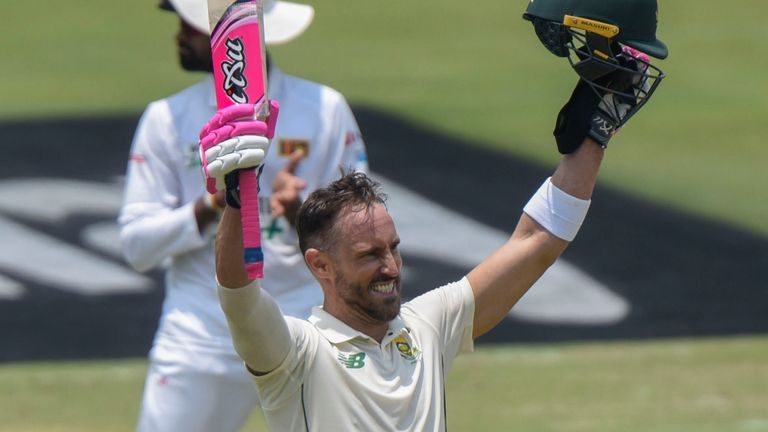 Du Plessis scored 10 centuries in 69 Tests for South Africa
