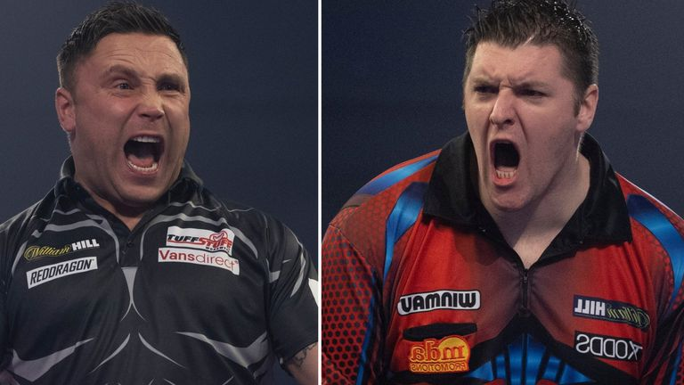 Gerwyn Price faces Daryl Gurney in the opening match of the night on New Year's Day