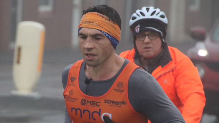 Kevin Sinfield has run seven marathons in seven days in support of Rob Burrow and the MND Association