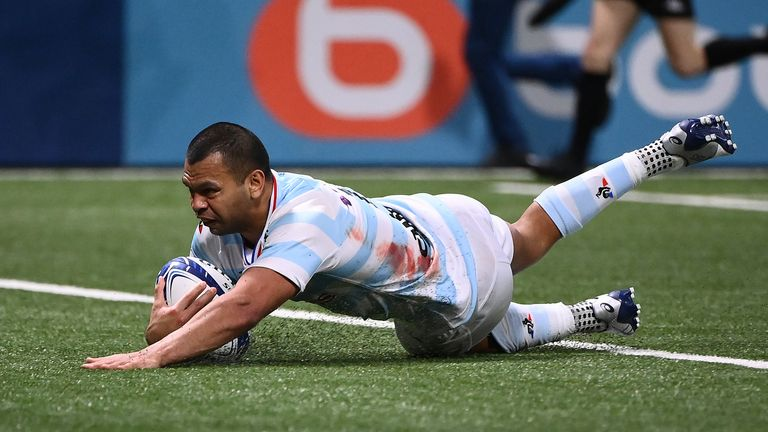 Kurtley Beale was among the try scorers as Racing 92 raced out to an early lead, but had to hold on in the end against Connacht