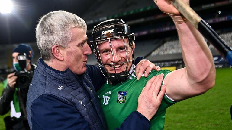 Kiely celebrates with Peter Casey