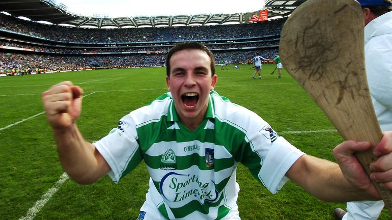 Limerick goalkeeper Brian Murray celebrates at full-time