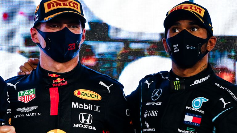 Former F1 world champion Jenson Button believes this season's title race is a straight shoot-out between defending champion Lewis Hamilton and Red Bull's Max Verstappen.