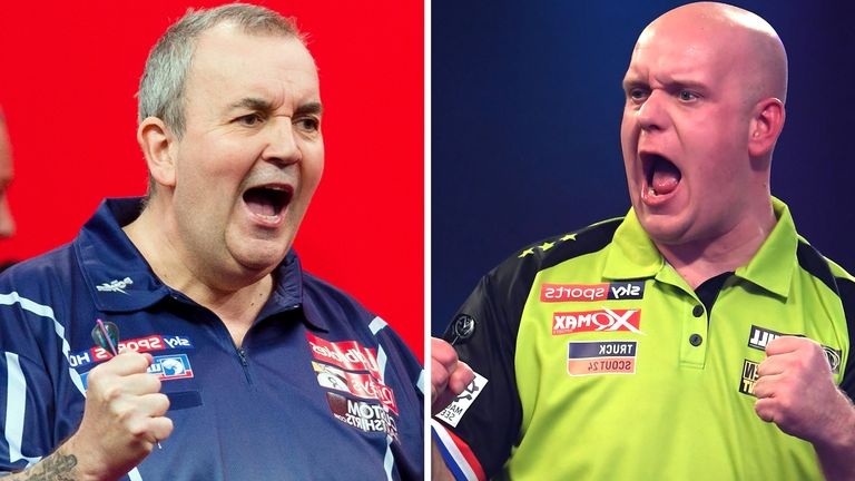 Phil Taylor has some words of advice for Michael van Gerwen, but he will not let us in on them