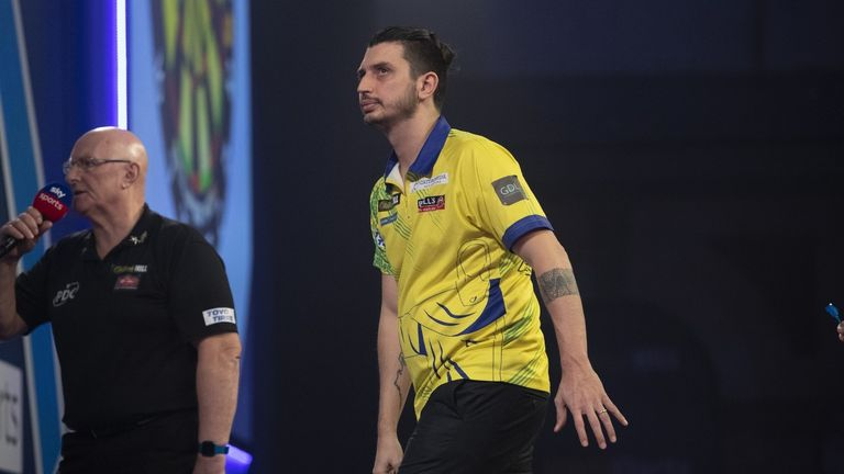 The Brazilian was beaten 3-0 by Premier League champion Glen Durrant in Wednesday's second round