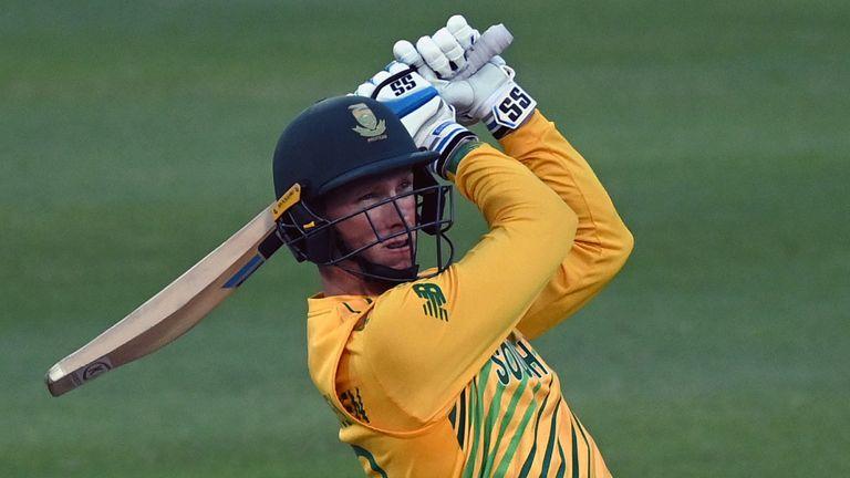 Rassie van der Dussen blitzed an unbeaten 74 from 32 balls