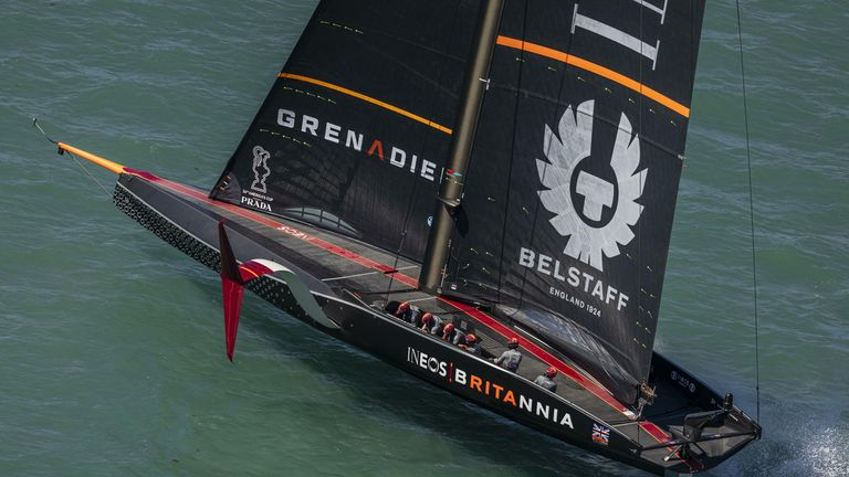The British boat had a difficult first day of racing in Auckland (Image Copyright: COR 36 | Studio Borlenghi)