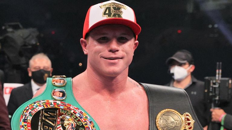 Canelo unified the WBC and WBA super-middleweight belts