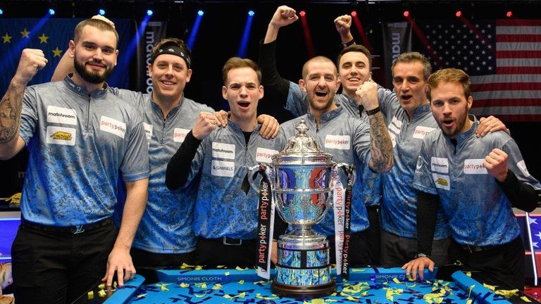 Team Europe regained the Mosconi Cup with an emphatic victory over USA