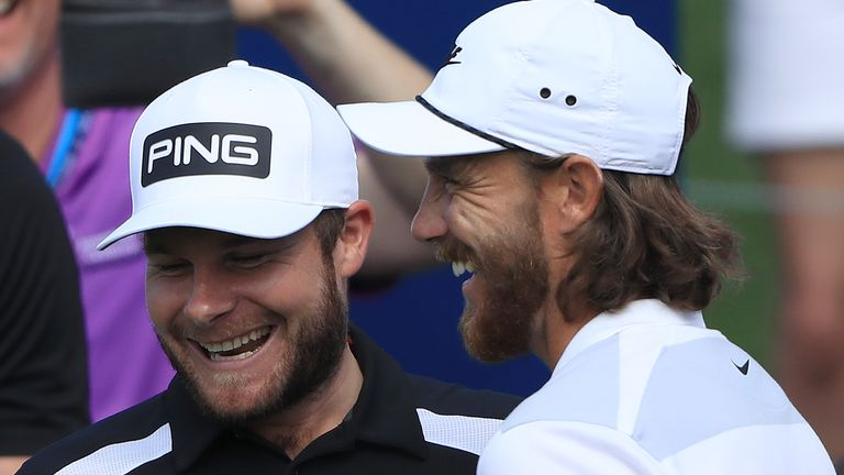 Tyrrell Hatton and Tommy Fleetwood are both in action at the DP World Tour Championship