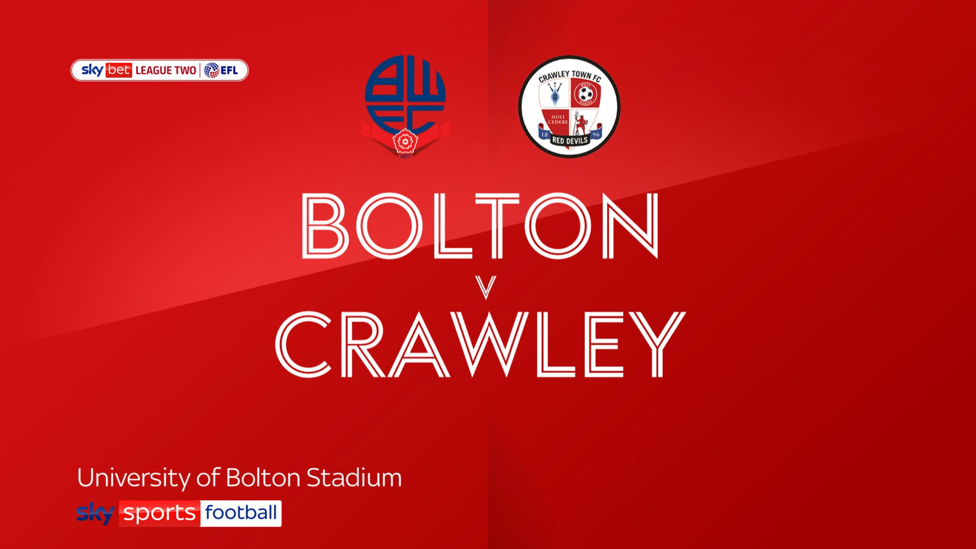 Bolton sunk by in-form Crawley
