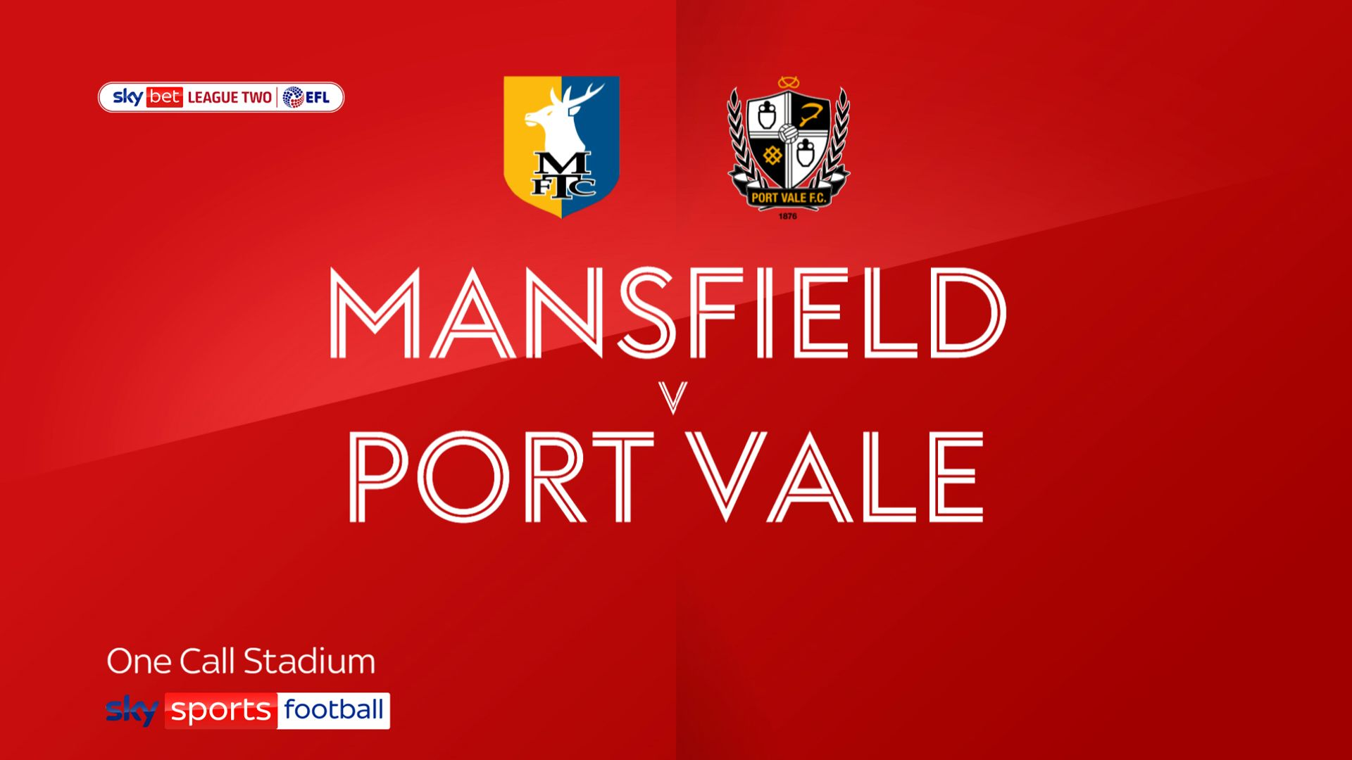 Mansfield winless run continues with draw against Port Vale