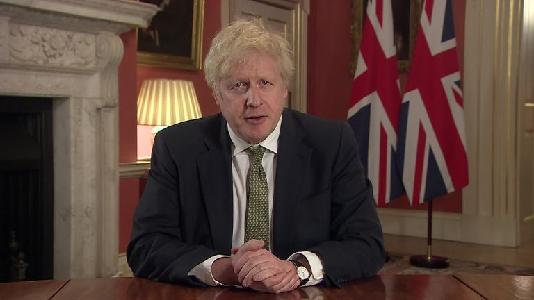 Prime Minister Boris Johnson has instructed people to stay at home in an attempt to control the new variant of the coronavirus