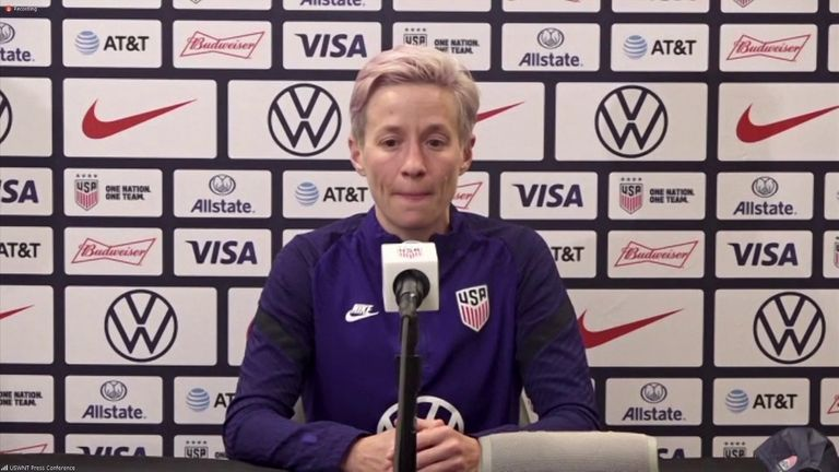 Two-time US World Cup winner Megan Rapinoe says she would be 'devastated' if the Tokyo Olympics are cancelled.