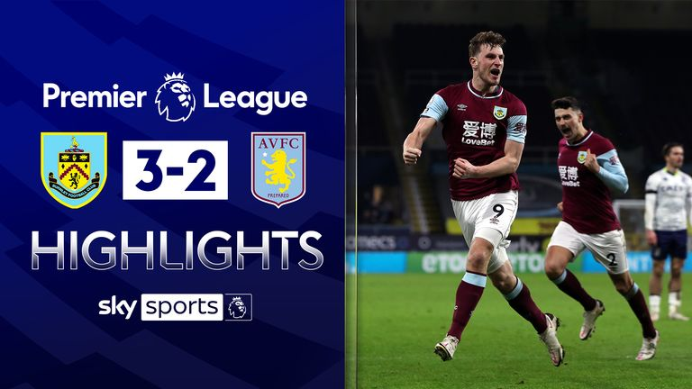 FREE TO WATCH: Highlights from Burnley's win over Aston Villa in the Premier League