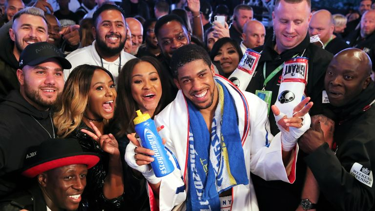 Joshua hopes to fight in front of crowds in the future