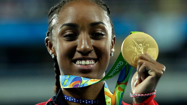 Brianna Rollins-McNeal won gold in the 100m hurdles at the Rio 2016 Olympics