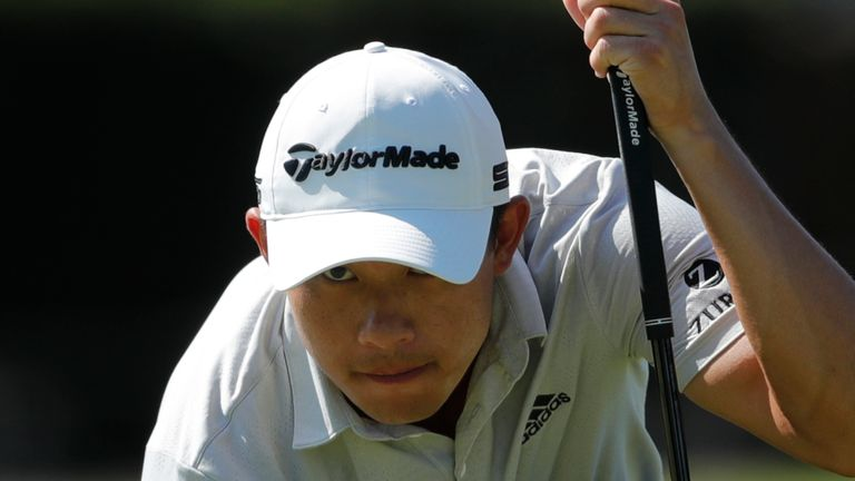 Collin Morikawa is one of nine players heading into the weekend on nine under