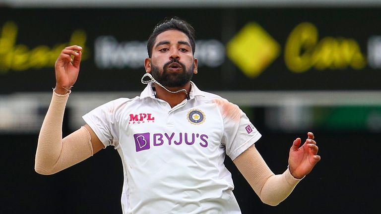 Mohammed Siraj is making only his third Test appearance for India in their series decider against Australia