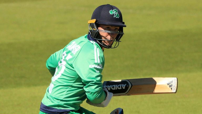 Curtis Campher top-scored with 56 after Ireland recovered from a poor start in Abu Dhabi