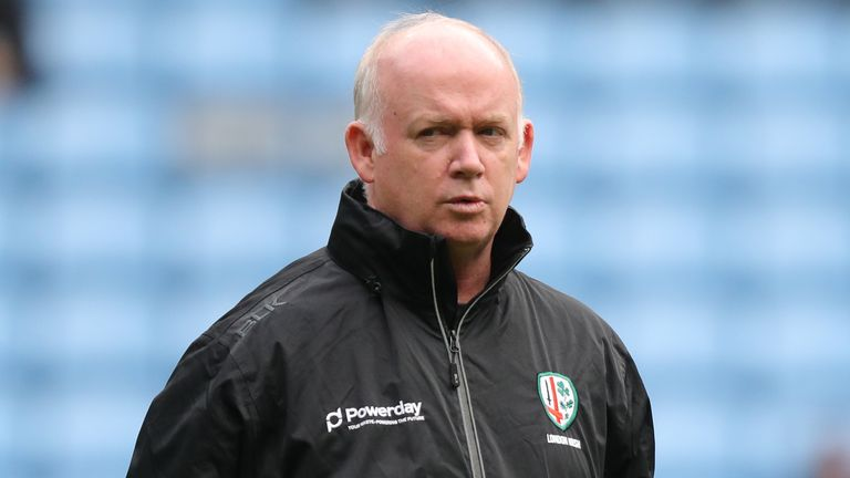 London Irish's Declan Kidney spoke to media this week after his side have lost their last two games to Covid-19