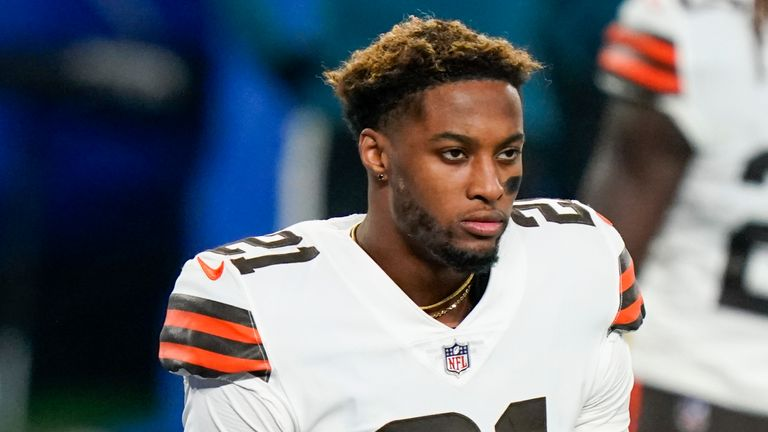 Cleveland Browns cornerback Denzel Ward has been placed on their COVID-19 list with the team unable to practice on Thursday