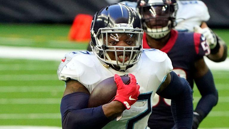 Titans running back Derrick Henry topped 2,000 rushing yards for the season