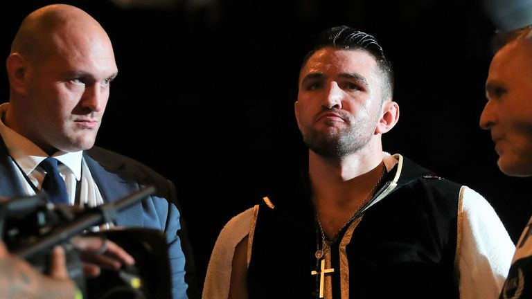 Hughie Fury was targeting a world title that had been held by Tyson