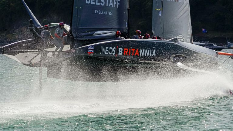 INEOS TEAM UK have been ripping it up out on the water (Image credit -  COR 36 | Studio Borlenghi)