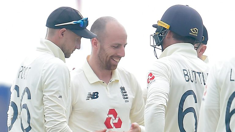 Jack Leach took five wickets for England