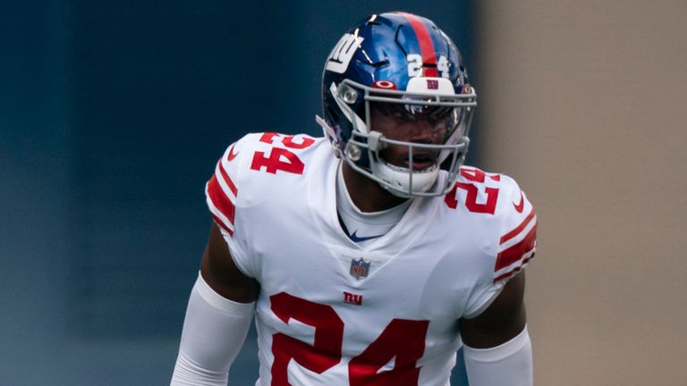 New York Giants cornerback James Bradberry. (AP Photo/Stephen Brashear)