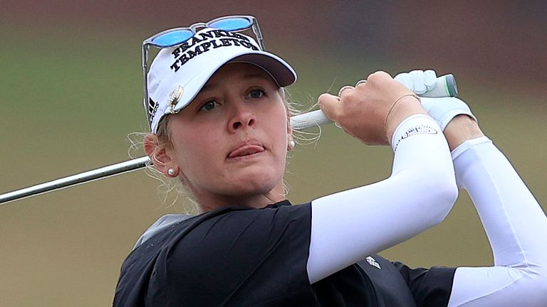 Jessica Korda birdied four of the last seven holes