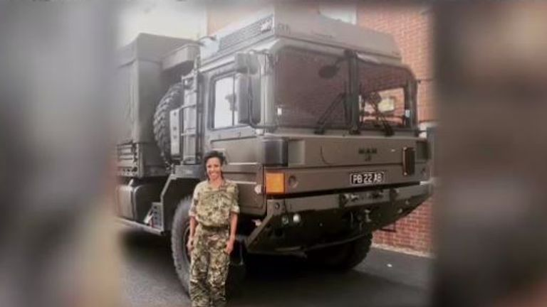 Holmes joined the Women's Royal Army Corps as a heavy vehicle driver