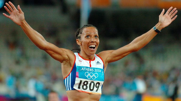 Holmes won gold in the women's 800m and 1500m at the 2004 Olympic Games in Athens