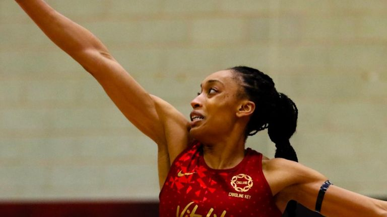 Layla Guscoth's return to the Vitality Netball Superleague is a great boost (Credit: Ben Lumley)