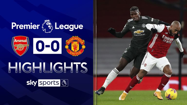 FREE TO WATCH: Highlights from Arsenal's draw against Manchester United