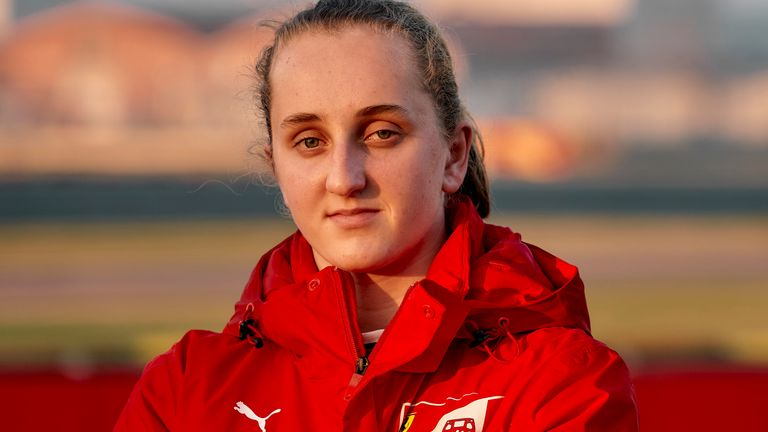 Maya Weug joins a Ferrari driver academy which has already delivered a number of youngsters to the F1 grid. Image @Scuderia Ferrari Press Office