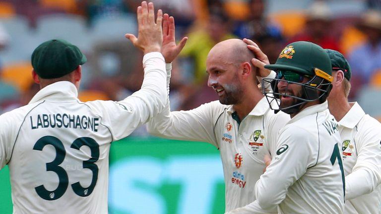 Nathan Lyon dismissed Rohit Sharma for 44 as India closed 307 runs behind Australia