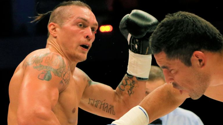 Oleksandr Usyk competed in the World Series of Boxing