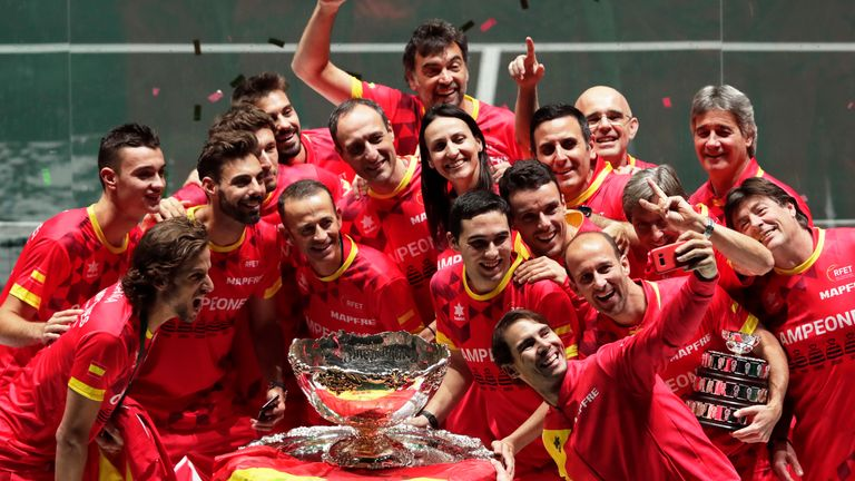 Spain will be defending their Davis Cup trophy after winning on home soil in 2019