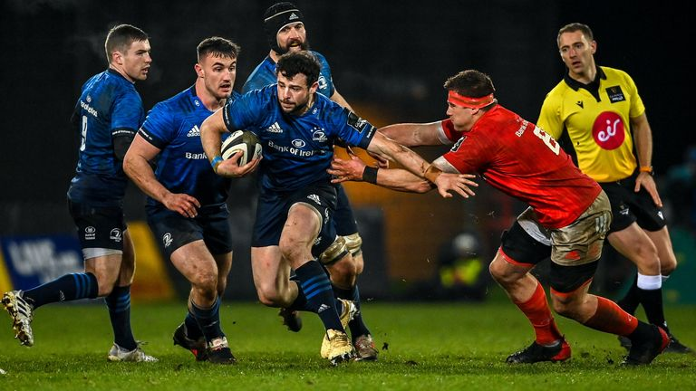 Robbie Henshaw made more carries than any other Leinster player against Munster