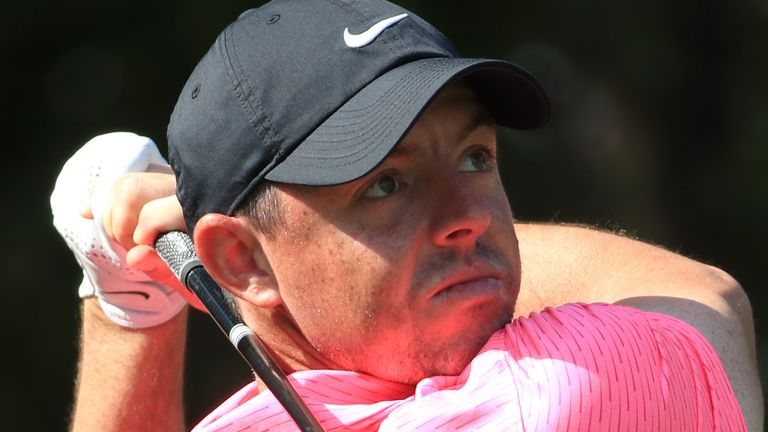 Rory McIlroy holds a one-shot lead after the opening round in Abu Dhabi