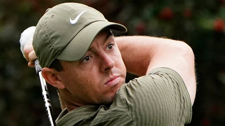 Rory McIlroy will play alongside Justin Thomas and Lee Westwood during the first two rounds